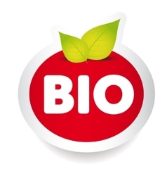 Bio food label vector
