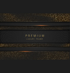 black and gold abstract headline luxury vector image
