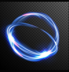 blue circles glow light effect round wave vector image