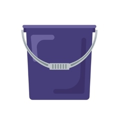 Blue flat empty bucket icon logo vector image
