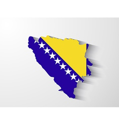 Bosnia and Herzegovina map with shadow effect vector image