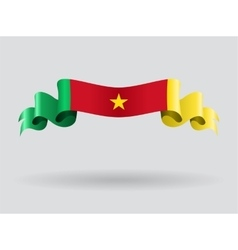 Cameroon wavy flag vector image