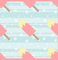 color seamless pattern of delicious melting ice vector image