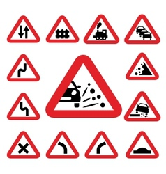 Color traffic signs vector