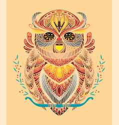 Colorful owl vector