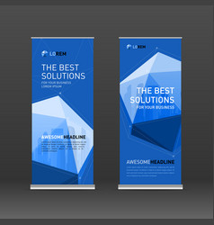Corporate roll up banner design layout vector