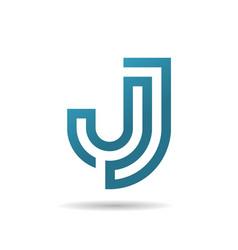 creative letter j logo vector image