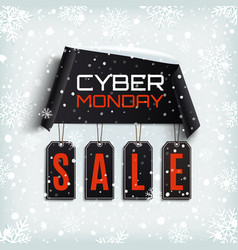 cyber monday sale winter design vector image