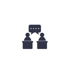 Debate icon symbol vector