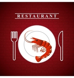 delicious seafood lobster animal vector image