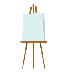 easel with blank canvas vector image