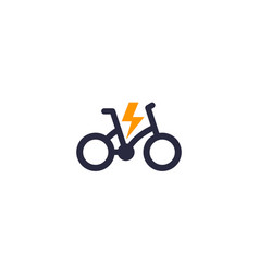 Electric bike bicycle icon logo vector