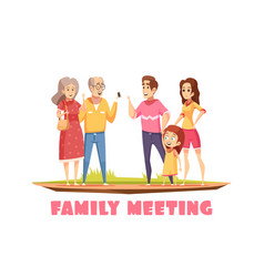 family meeting composition vector image