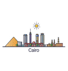 flat line cairo banner vector image