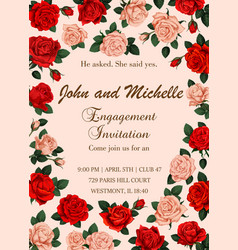 flowers invitation or save date wedding vector image