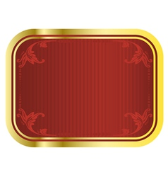 gold beer tag vector image
