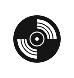 Gramophone vinyl LP record icon simple style vector image