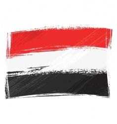 grunge Yemen flag vector image