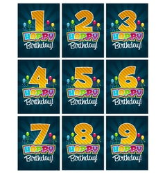 Happy Birthday Numbers vector image