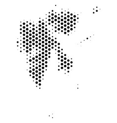 Hex tile svalbard island map vector