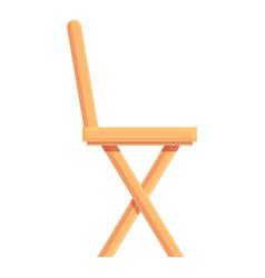 Home wood chair icon cartoon outdoor vector