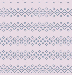 horizontal geometrical lace in blue and dusty pink vector image