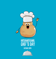 International chef day greeting card vector