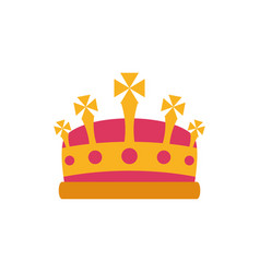 Isolated king pink and gold crown design vector