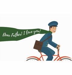 it is written lettering father dad i love you vector image
