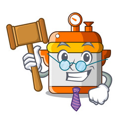 Judge electric pressure cooker isolated on mascot vector