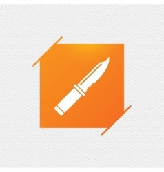 Knife sign icon Edged weapons symbol vector image