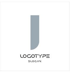 Letter i logo geometric monumental label simple vector