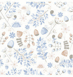 light fresh seamless pattern with birds leaves vector image vector image