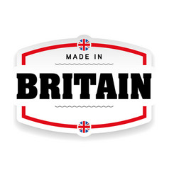 made in britain label vector image