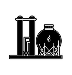natural gas related icon image vector image