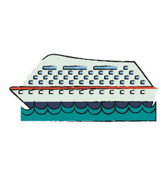 ocean cruise ship vector image