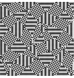 Op art pattern ethnic ornamental background vector