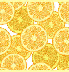 pattern with orange wedges vector image
