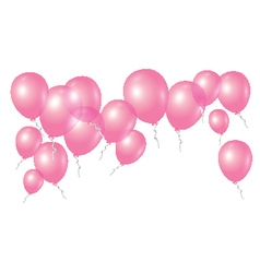 Pink balloons on white background vector