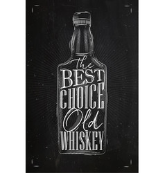poster whiskey best choice vector image