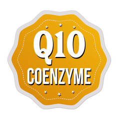 q10 coenzyme label or sticker vector image