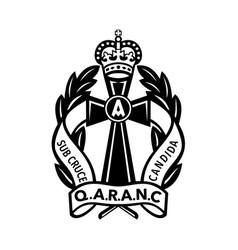 queen alexandras royal army nursing corps or vector image