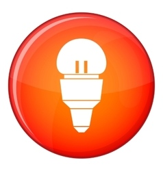 Reflector bulb icon flat style vector