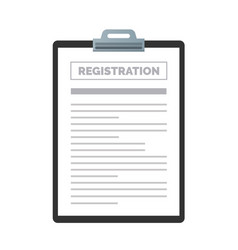 Registration clipboard vector