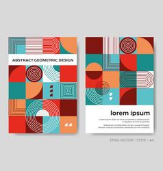 Retro abstract brochure cover design set vector
