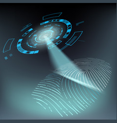 scan fingerprint privacy and protection vector image
