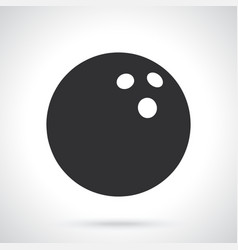 Silhouette bowling ball vector