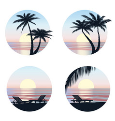 Summer holidays background seaside view beach vector