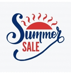 Summer sale badge vector