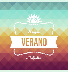 Vintage spanish summer vacation greeting card vector